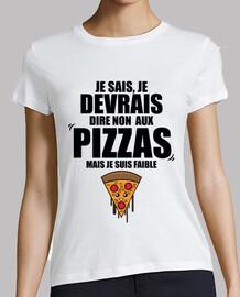 Debería decir no a las pizzas soy débil