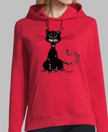 déchiré mauvais chat noir