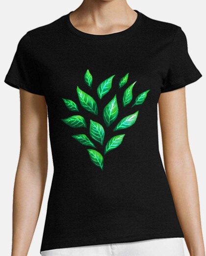Decorative Abstract Green Leaves