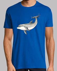 Delfin - Hombre, manga corta, azul royal, calidad extra