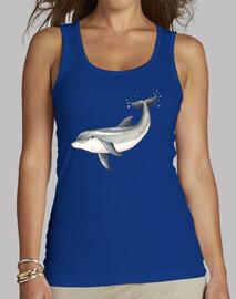Delfin - Mujer, sin mangas, azul royal
