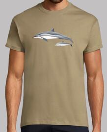 Delfín acróbata (Stenella longirostris) camiseta hombre
