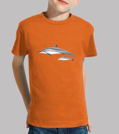 Delfín acróbata (Stenella longirostris) camiseta niño