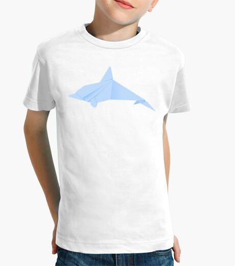 Ropa infantil Delfín azul. Aplícalo sobre diferentes colores de camiseta de niño