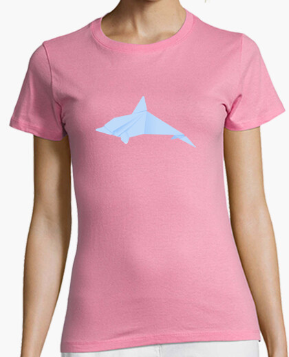 Delfín azul. Aplícalo sobre diferentes colores y estilos de camiseta de niño y adulto