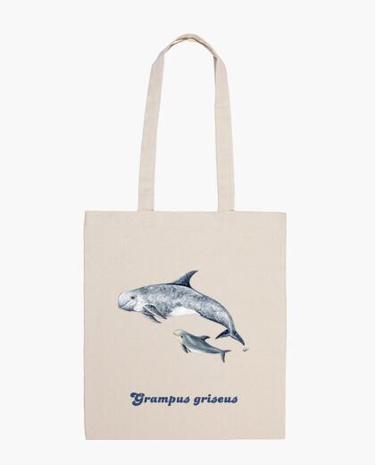 Bolsa Delfín de Risso calderón gris Bandolera bolso