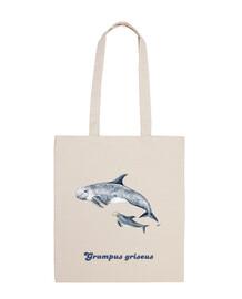 Delfín de Risso calderón gris Bandolera bolso