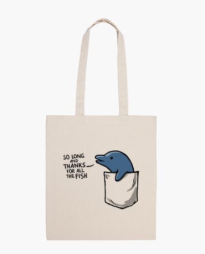 Bolsa delfín en un bolsillo