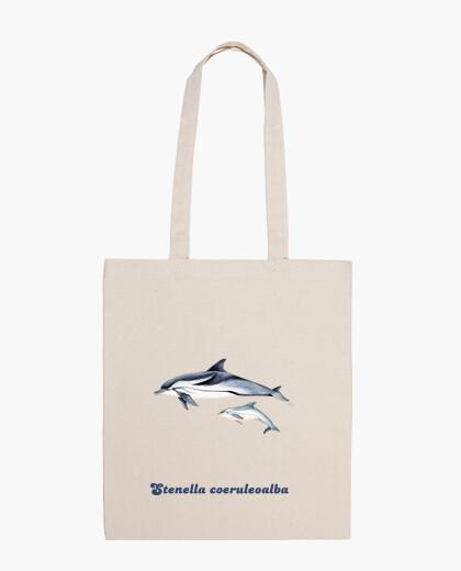 Bolsa Delfín listado (Stenella coeruleoalba) bolso tela