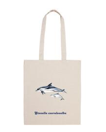 Delfín listado (Stenella coeruleoalba) bolso tela