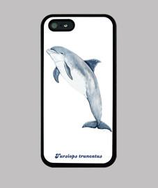 Delfín mular Funda iPhone 5 / 5s, negra