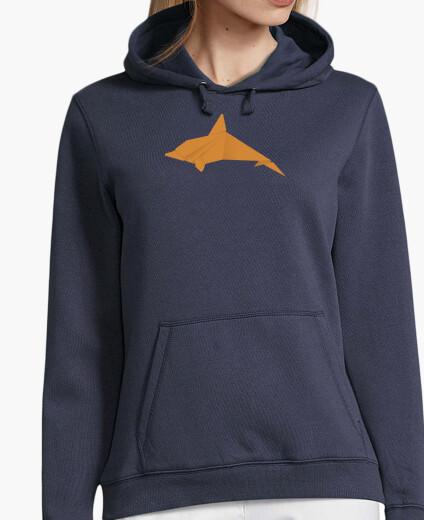 Delfín naranja. Aplícalo sobre diferentes colores de sudadera con y sin capucha.