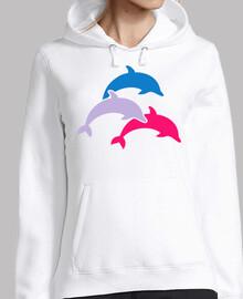 delfines de colores