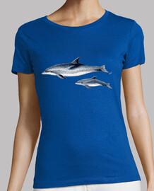 Delfines moteados del Atlántico camiseta mujer