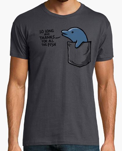 T-shirt delfino in una tasca