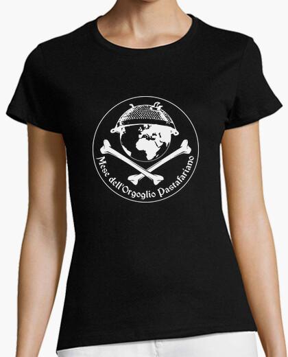 Camiseta dellorgoglio pastafariano meses para ropa oscura