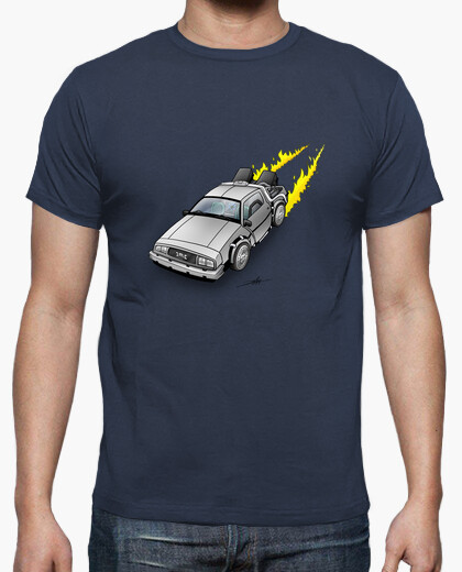 Camiseta DeLorean de Regreso al Futuro.