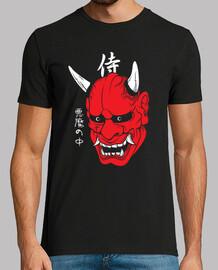 demone d'arte maschera giapponese diavolo faccia harajuku estetica