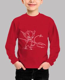 Demonio B - Camiseta infantil manga
