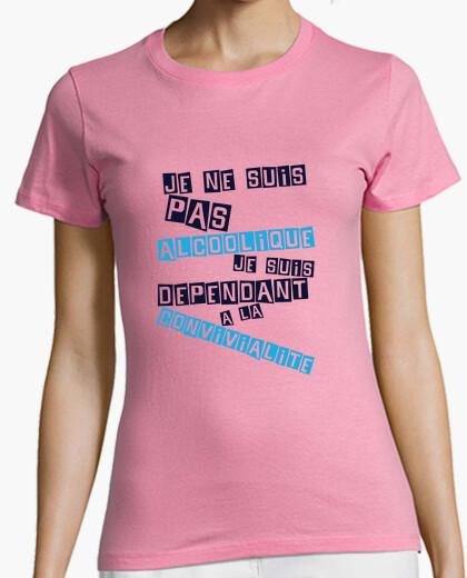 Dépendant à la convivialité t-shirt