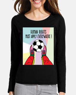derechos humanos jugando al fútbol