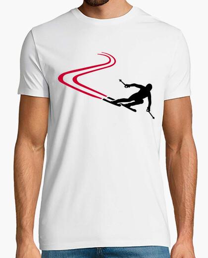 Tee-shirt descente des pistes de ski