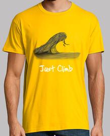 désert grimpeur homme, manche courte, jaune moutarde, qualité extra
