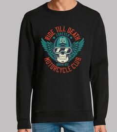 design club de motard cru skull 1988