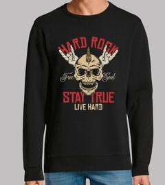 design dure rock musique vintage skull