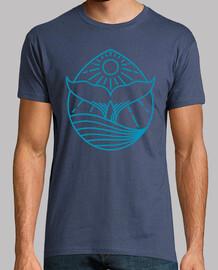 design ligne de tail baleine bleue