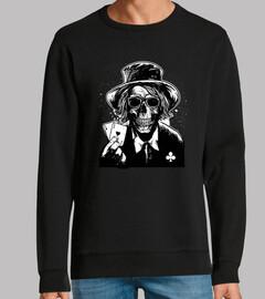 design skull joueur crânes de poker