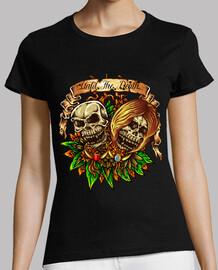 design skull skull terror vintage color