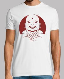 design visage de Bouddha moine heureux