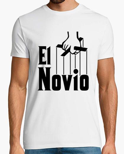 Camiseta Despedida de Soltero La novia El Padrino (Hombre, FONDO CLARO)