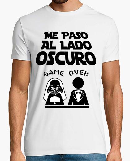 Camiseta Despedida de Soltero Lado Oscuro (Novio) Fondo Claro