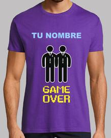 Despedida de Soltero NOMBRE PERSONALIZADO, GAME OVER Gays **LEER DESCRIPCIÓN**