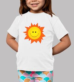 dessin animé souriant soleil heureux
