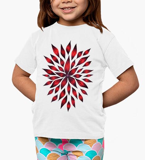 Vêtements enfant dessin de doodle fleur rouge abstrait