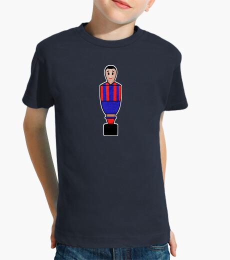 Vêtements enfant dessin de football bleu et rouge
