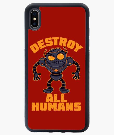 Funda iPhone XS Max destruir a todos los humanos robot enoj