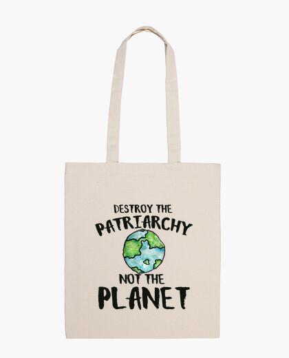 Bolsa destruir el patriarcado no el planeta