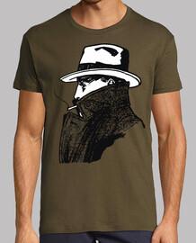 Detective raincoat / man smoking