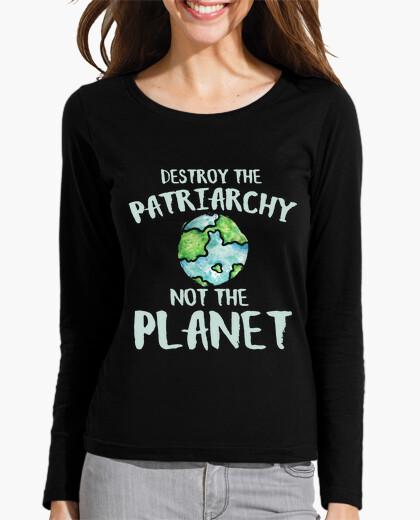 Tee-shirt détruire le patriarcat pas la planète