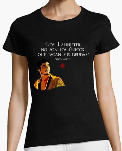 Camiseta Deudas de Oberyn Martell - Chica negro