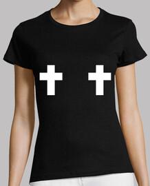 deux croix rebelles - blanc
