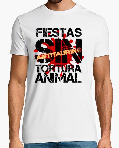 Tee-shirt deux parties, sans torture animale