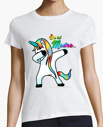 T-shirt di tale mamma - donna, manica corta, bianco, qualità premium