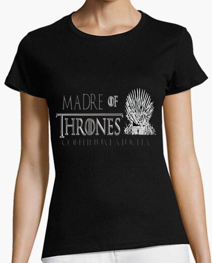 Camiseta DIA DE LA MADRE, JUEGO DE TRONOS Mujer, manga corta, negra, calidad premium
