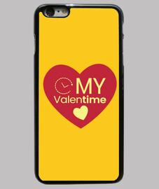 Día de San Valentín Corazón My Valentin Funda iPhone 6 Plus, negra