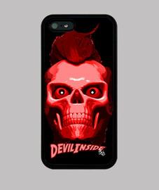 Diable à l'intérieur  tête de mort  rocker
